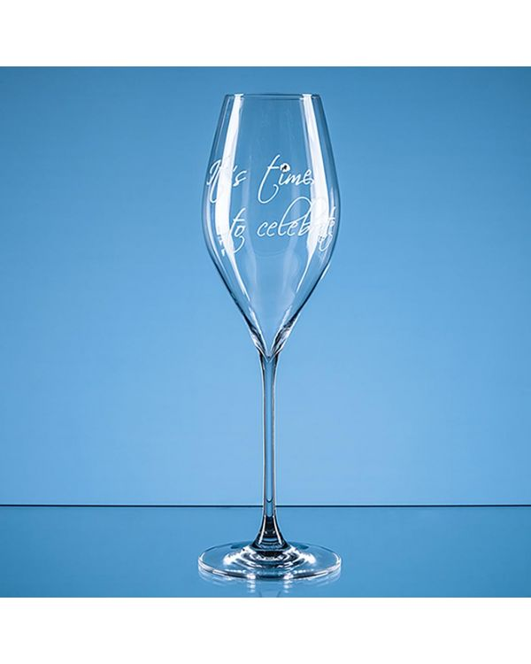 320ml 'It's time to celebrate' Diamante Prosecco Glass