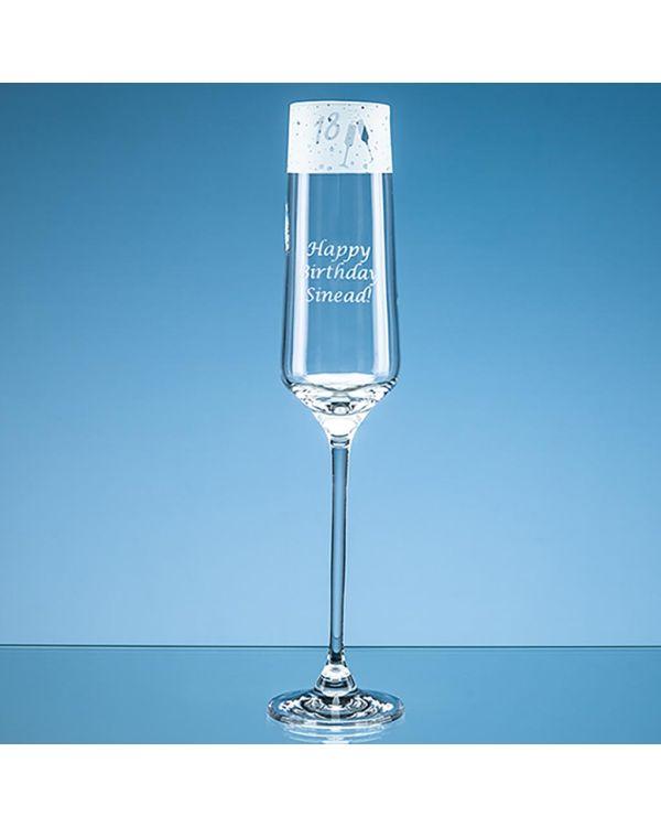 190ml '18' Frieze Design Champagne Flute