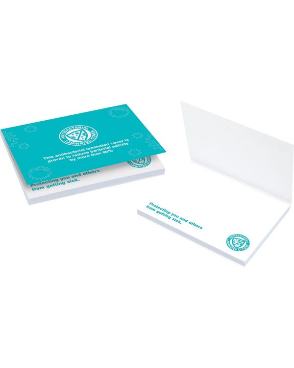 A7 Anti-Bac Laminated Covered Sticky Notes