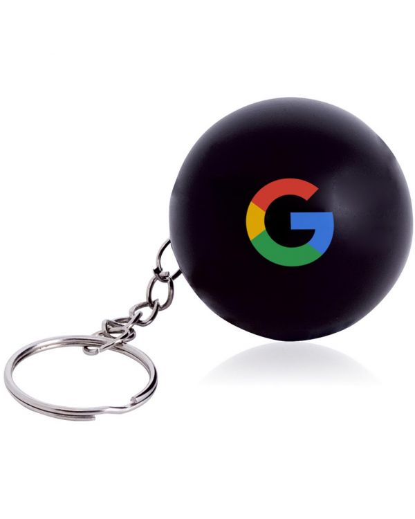 Round Stress Ball Keyring