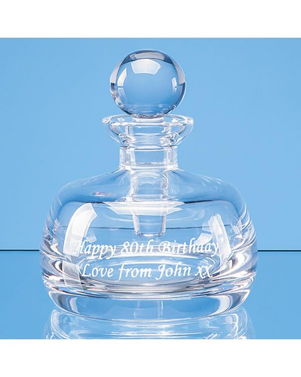 8cm Lead Crystal Perfume Bottle and Stopper
