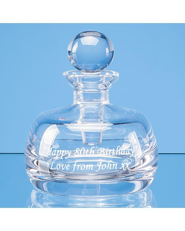 8cm Lead Crystal Perfume Bottle & Stopper