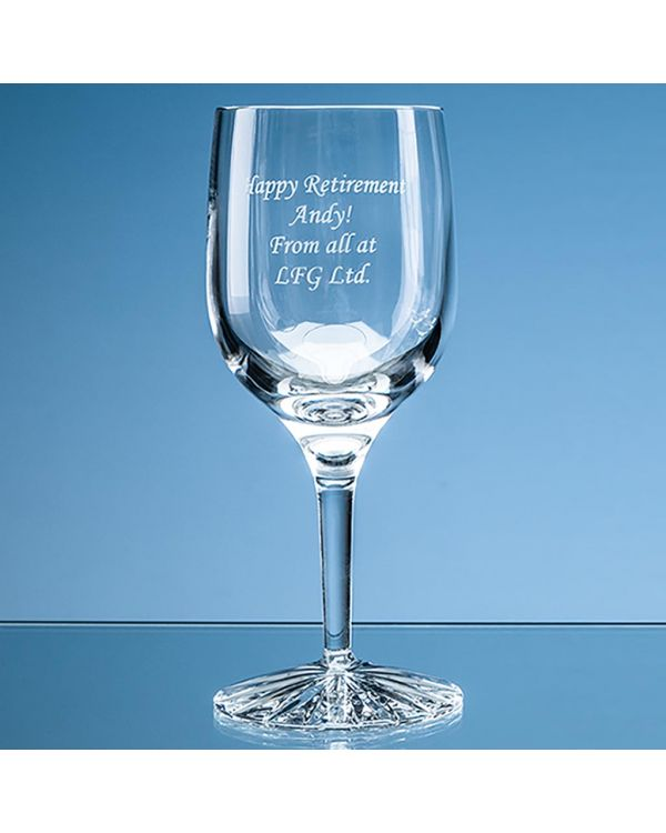 220ml Grosvenor Lead Crystal Wine Glass with Star Cut Base