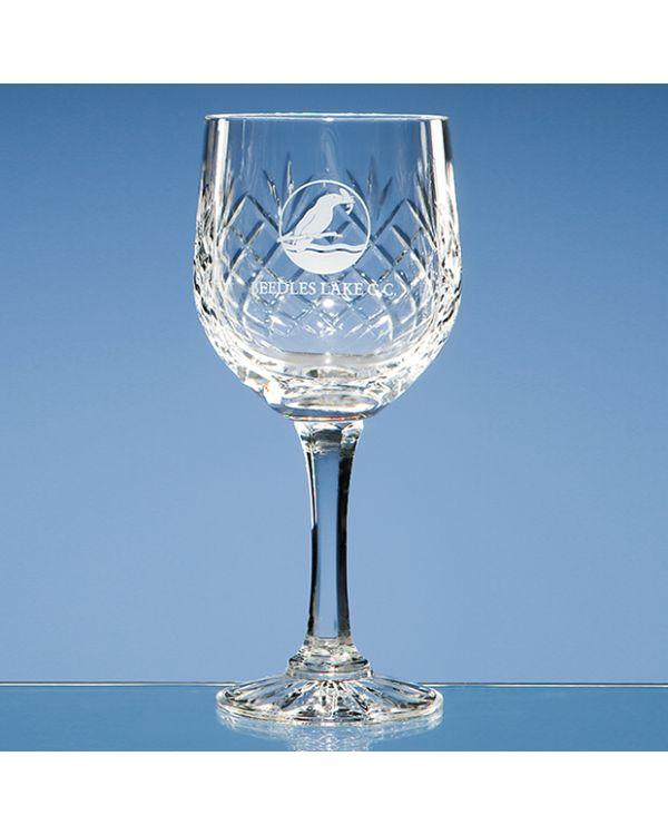 240ml Durham Lead Crystal Panel Goblet
