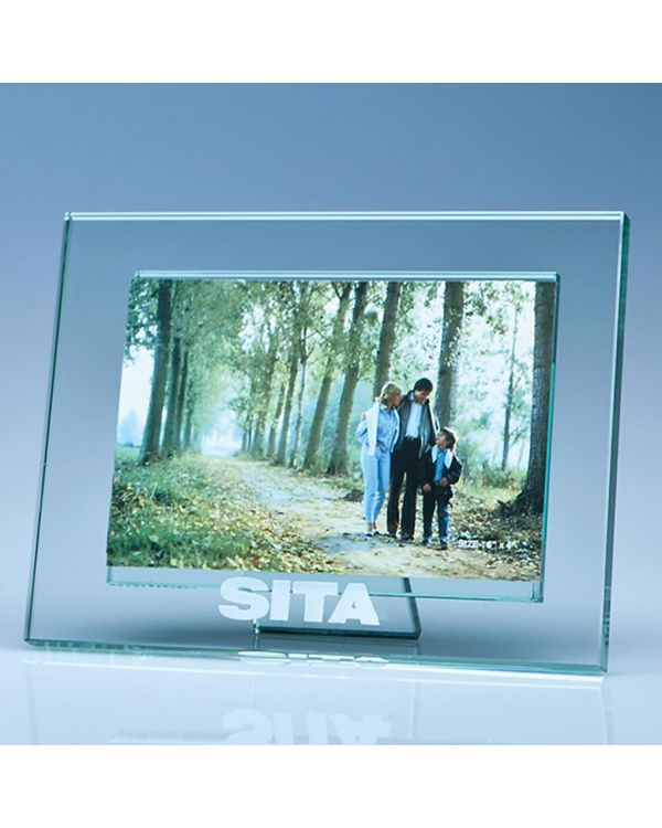 """Jade Glass Photo Frame for 4"""" x 6"""" Photo, H"""