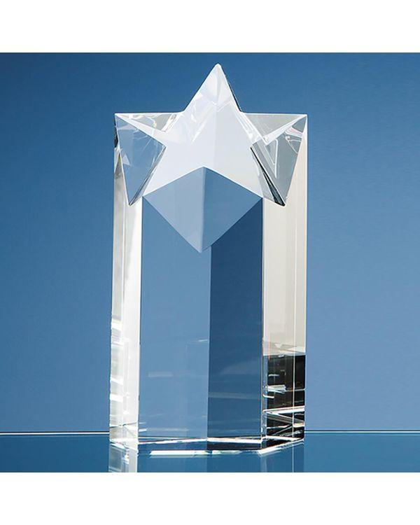 18cm Optical Crystal Star Column Award