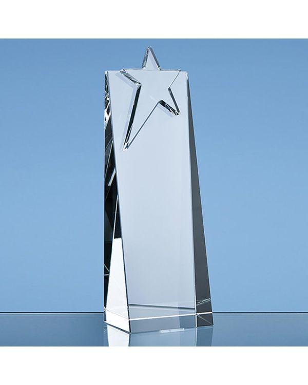 21cm Optical Crystal Star Rectangle Award