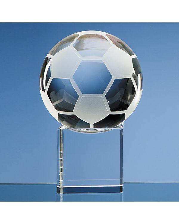 10cm Optical Crystal Football on a Clear Crystal Base