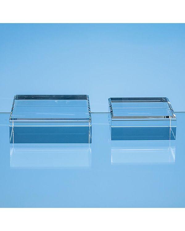 12.5cm Optical Crystal Square Base