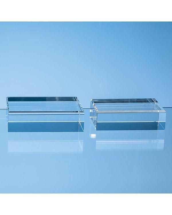 14cm x 9cm Optical Crystal Rectangle Base