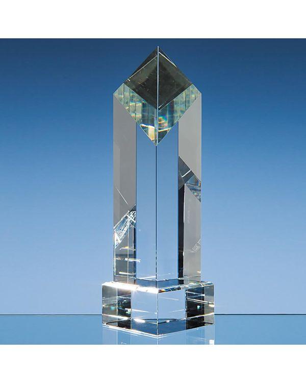 23cm Optical Crystal Diamond Award