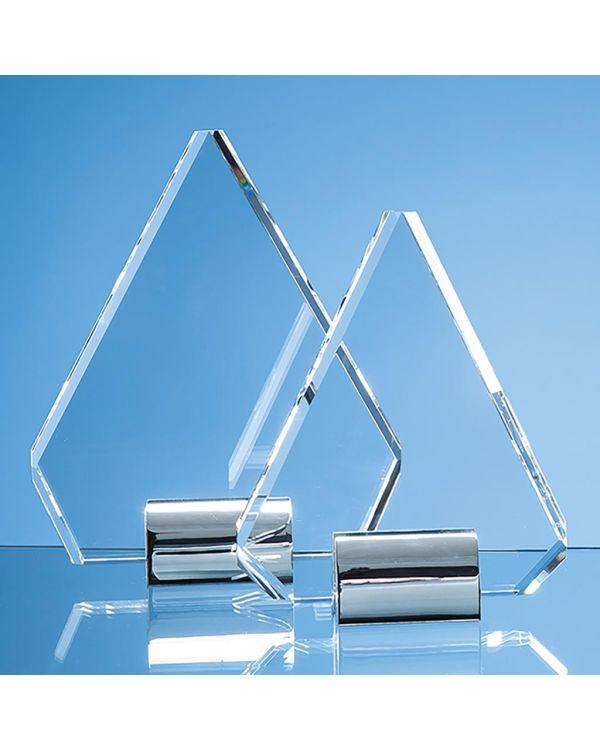 18cm Optical Crystal Diamond mounted on a Chrome Stand