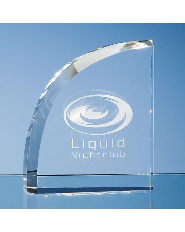 12.5cm Optical Crystal Facet Curve Award
