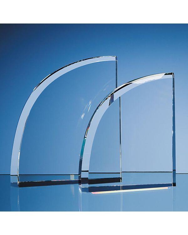 15.5cm Optical Crystal Facet Curve Award
