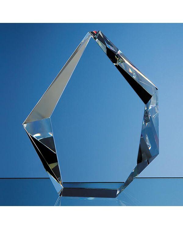 17cm Optical Crystal Facet Iceberg Award