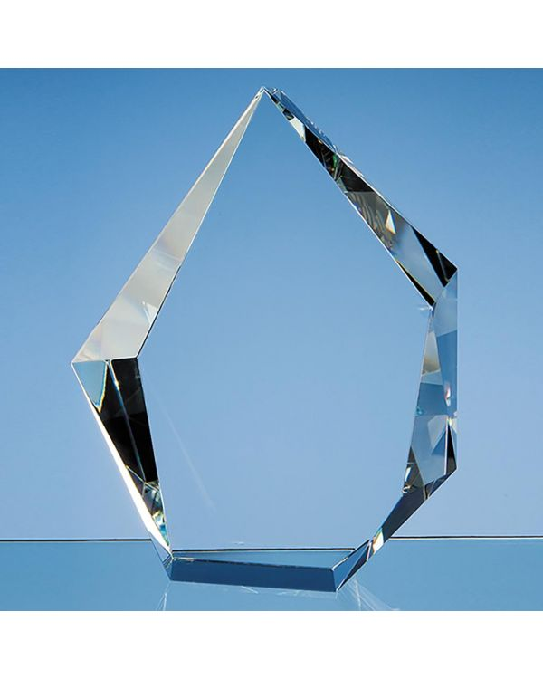 20cm Optical Crystal Facet Iceberg Award