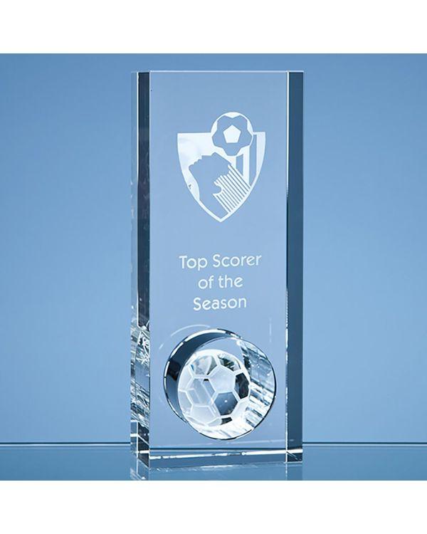 20cm Optical Crystal Football in the Hole Award