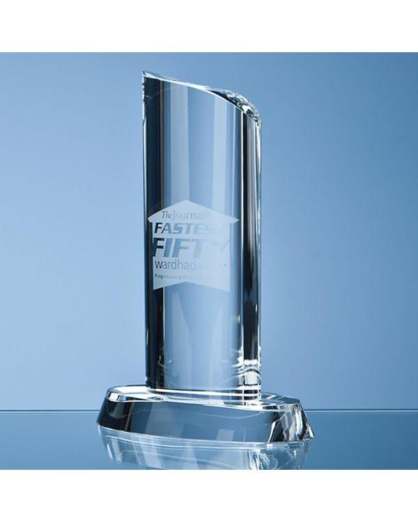 20cm Optical Crystal Oval Column Award
