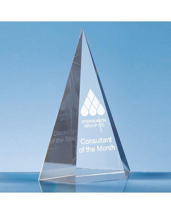 19cm Optical Crystal Facet Point Award