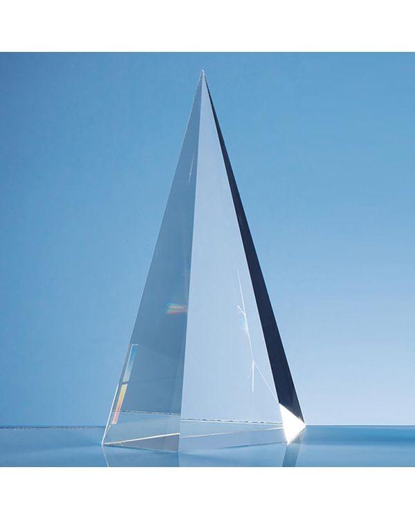 25.5cm Optical Crystal Facet Point Award