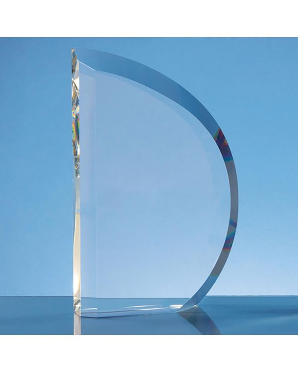 23cm Optical Crystal Facet Curve Award