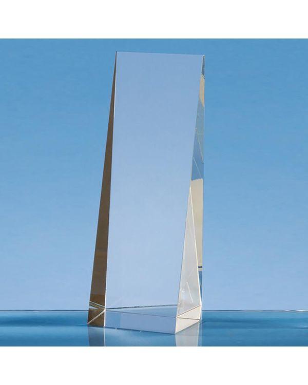 19.5cm Optical Crystal Wedge Rectangle Award