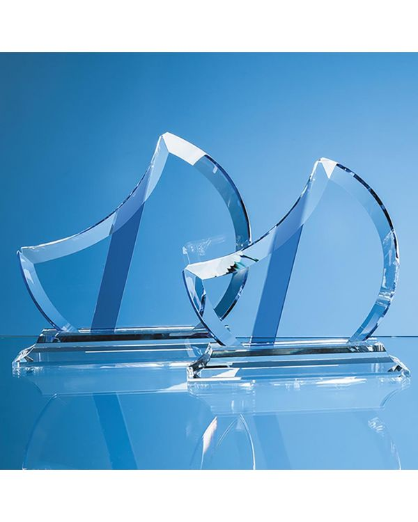 18cm Optical Crystal Eclipse Award with Sapphire Blue Flash