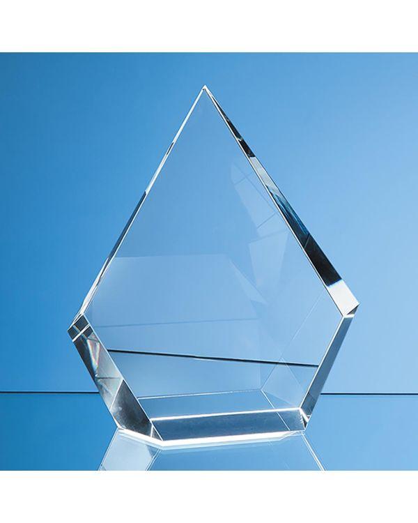 15cm Optical Crystal Facet Diamond Award