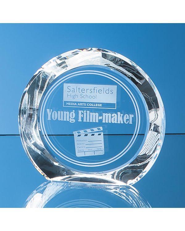 13cm Optical Crystal Elite Circle Award