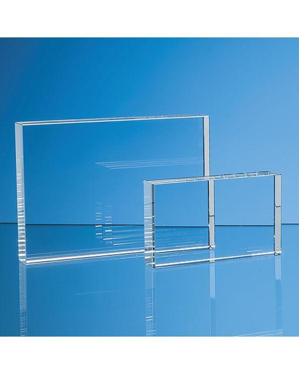 12.5cm x 17.5cm Optical Crystal Rectangle Award, H or V