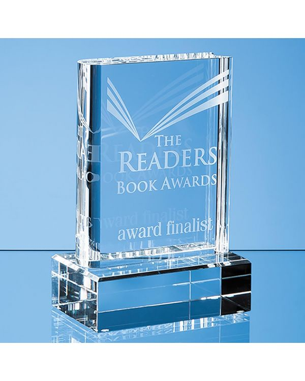 15cm Optical Crystal Book Award