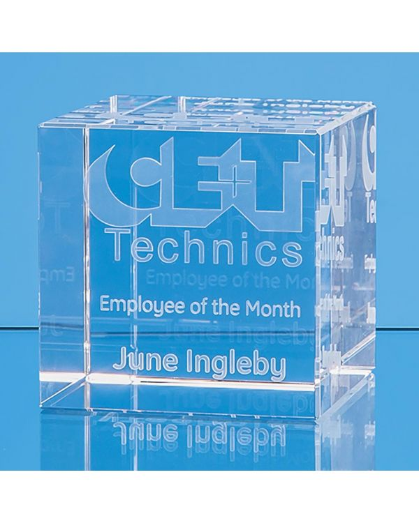 6cm x 6cm Optical Crystal Cube