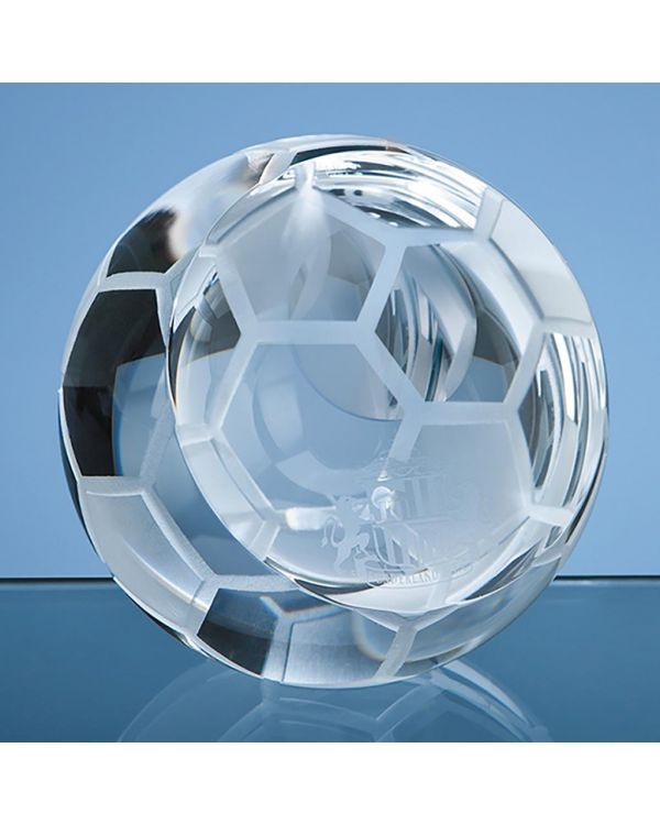 6cm Optical Crystal Football Paperweight