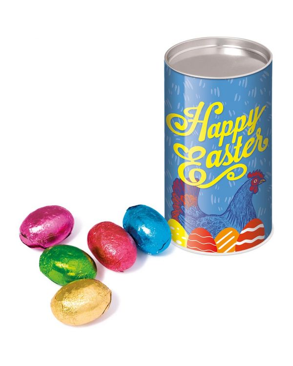 Easter - Small snack tube - Foiled Chocolate Eggs