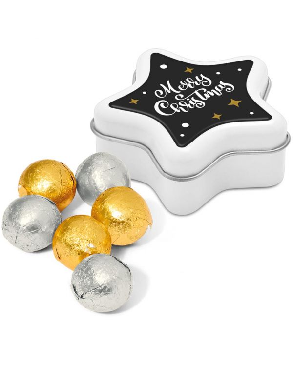 Winter Collection 2020 - Star Tin - Foiled Chocolate Balls