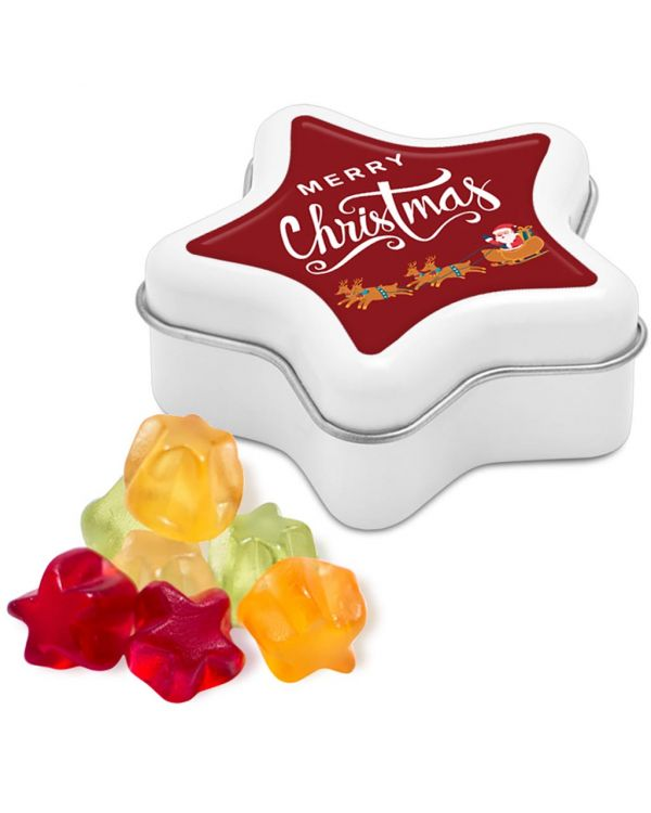 Christmas - Star Tin - Kalfany Star Fruit Gums