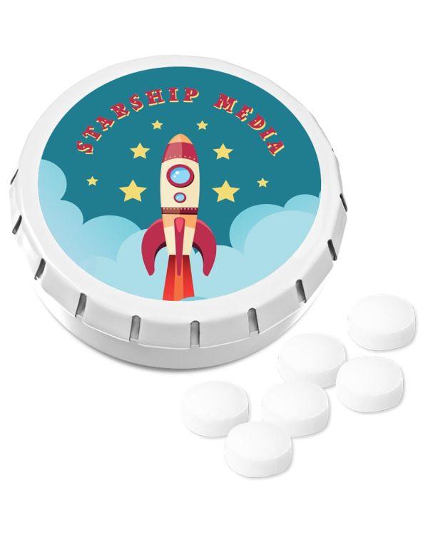 Kalfany - Super Mini Click Clack Tin - Sugar Free Peppermint
