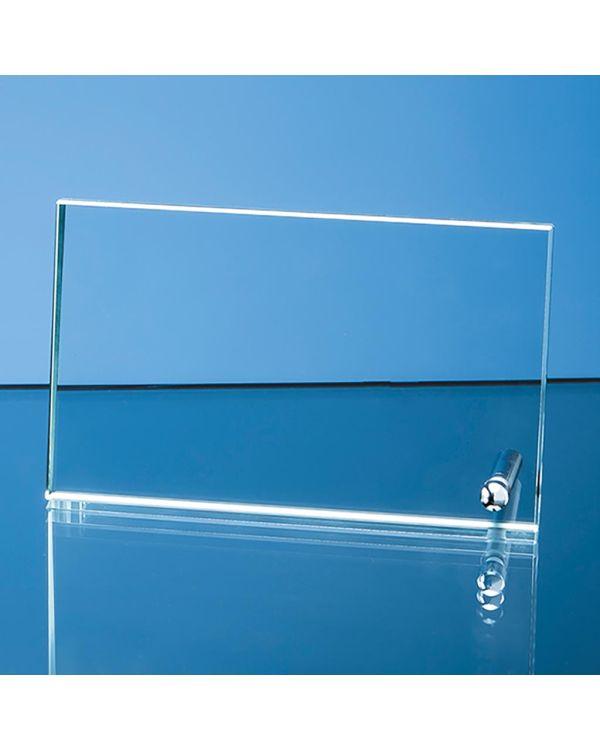 16cm x 10cm x 1cm Jade Glass Rectangle with Chrome Pin, H or V