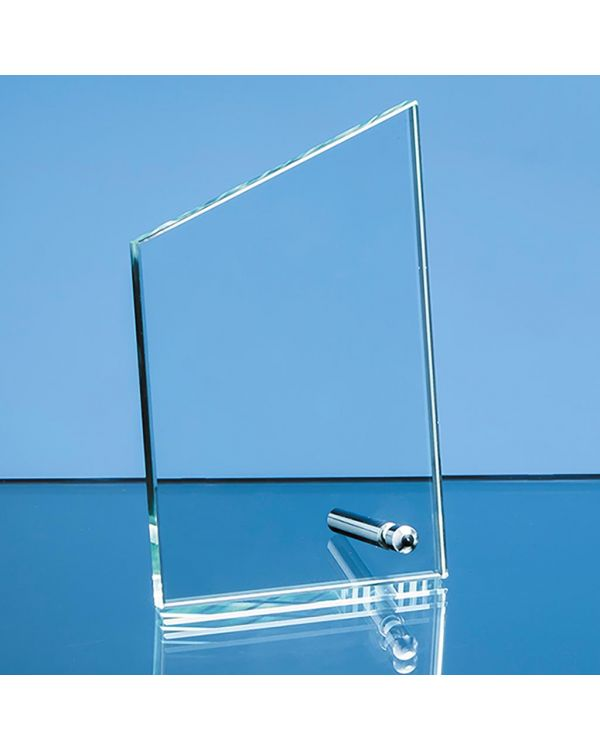 16cm x 10cm x 1cm Jade Glass Peak with Chrome Pin, H or V