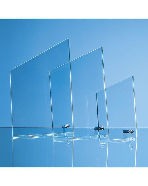 20.5cm x 12.5cm x 1cm Jade Glass Peak with Chrome Pin, H or V