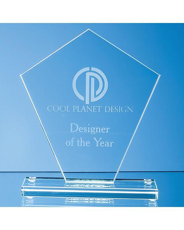 19.5cm x 17.5cm x 1cm Jade Glass Diamond Award