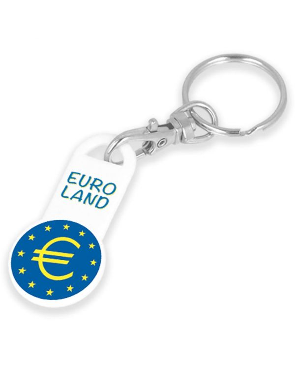 Recycled Euro Trolley Stick Keyring
