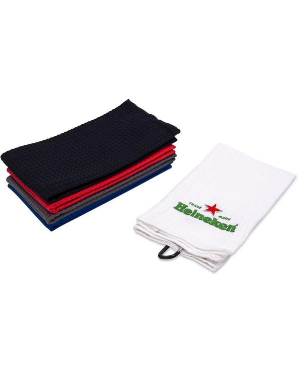 Waffle Tri Fold Embroidered Golf Towel