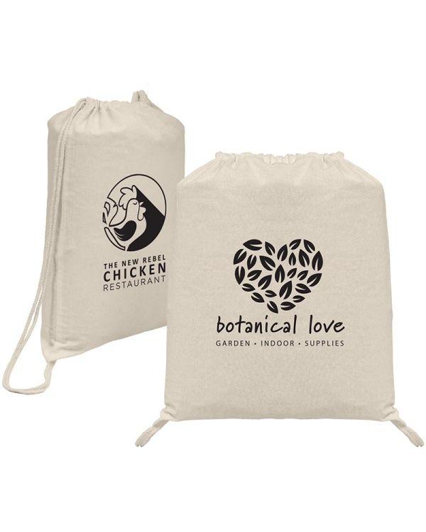 Prague - Cotton Drawstring Backpack