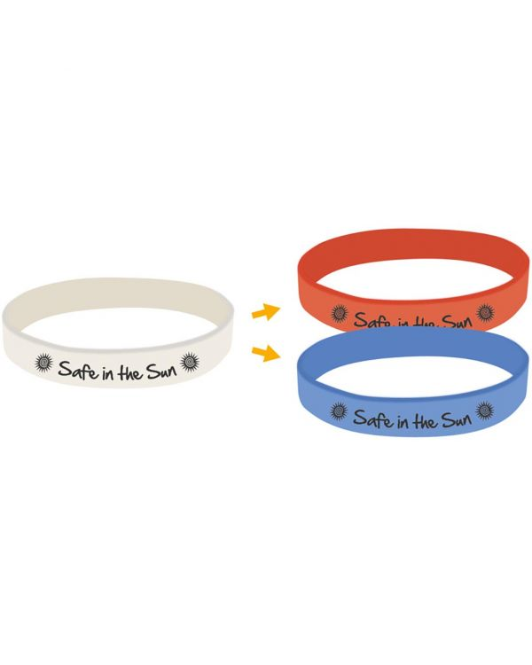 UV Debossed Silicone Wristbands
