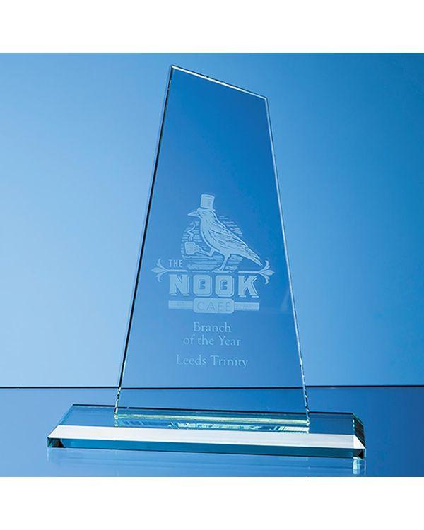 20cm x 11cm x 12mm Jade Glass Mountain Award