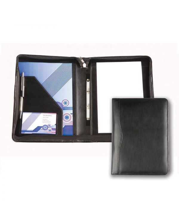 Balmoral Leather A5 Zipped Ring Binder