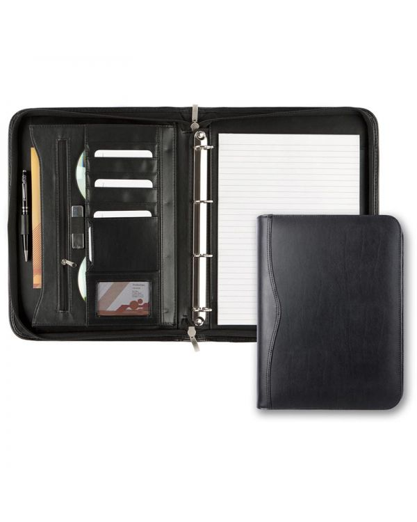 Brampton Leather A4 Deluxe Zipped Ring Binder