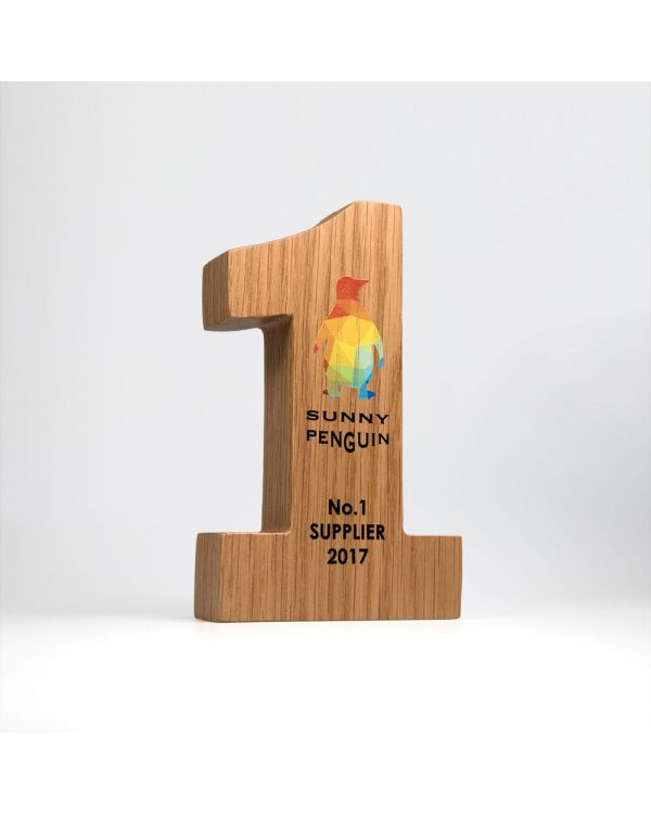 Complex real wood block awards