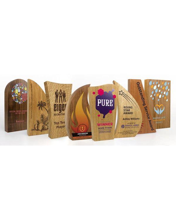Real Wood Block Awards - 70mm x 125mm